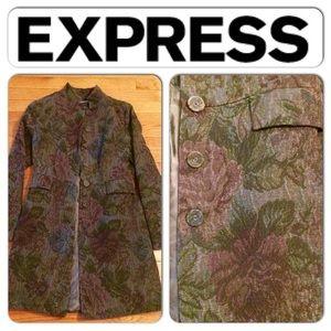 Express Brocade/Floral tapestry coat